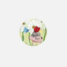 Ladybug Fairy Cat Mini Button