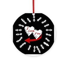 Valentine's Day I Love You Ornament (Round)