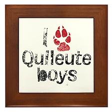 I Paw Quileute Boys Framed Tile