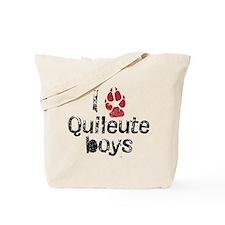 I Paw Quileute Boys Tote Bag