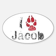 I Paw Jacob Oval Decal