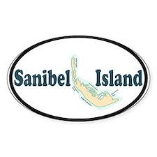 Sanibel Island FL Oval Stickers