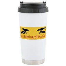 Quit Staring At My Goat! Travel Mug