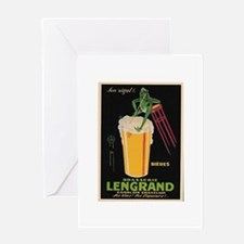 French Frog Beer Ad Greeting Card