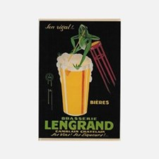 French Frog Beer Ad Rectangle Magnet