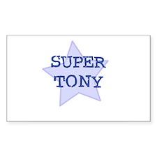 Super Tony Rectangle Decal
