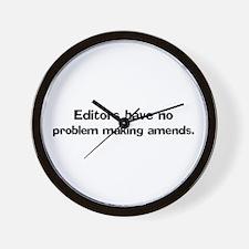 Editors have no problem Wall Clock