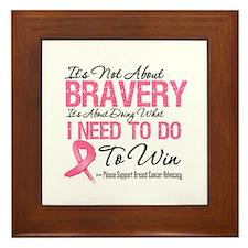Breast Cancer Bravery Framed Tile