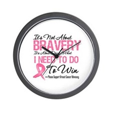 Breast Cancer Bravery Wall Clock