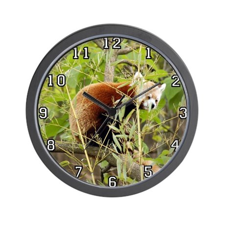 Red Panda Wall Clock
