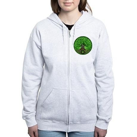 Circle Celtic Tree of Life Women's Zip Hoodie