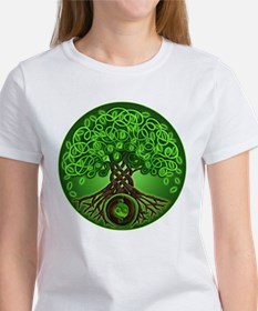 Circle Celtic Tree of Life Women's T-Shirt