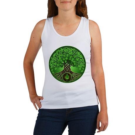 Circle Celtic Tree of Life Women's Tank Top