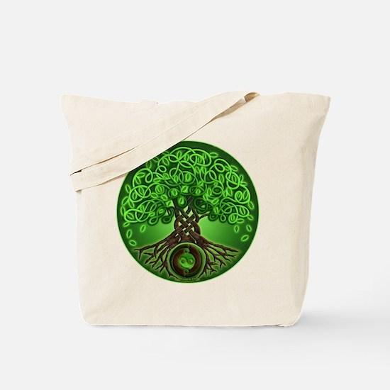 Circle Celtic Tree of Life Tote Bag