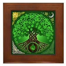 Circle Celtic Tree of Life Framed Tile