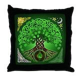 Green celtic pillow Throw Pillows