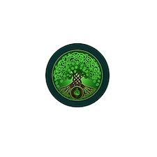 Circle Celtic Tree of Life Mini Button