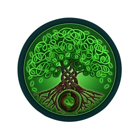 """Circle Celtic Tree of Life 3.5"""" Button (100 pack)"""