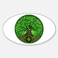 Circle Celtic Tree of Life Oval Decal