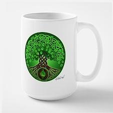 Circle Celtic Tree of Life Large Mug