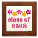 Floral School Class 2018 Framed Tile