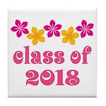 Floral School Class 2018 Tile Coaster