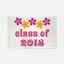 Floral School Class 2018 Rectangle Magnet