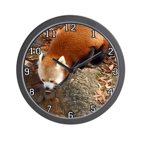 Red Panda Wall Clock