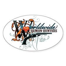Wolrdwide Demon Hunters Oval Sticker (10 pk)