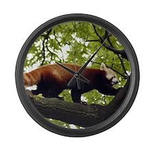 Red Panda Large Wall Clock