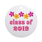 Floral Class Of 2019 Ornament (Round)