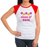 Floral Class Of 2019 Women's Cap Sleeve T-Shirt