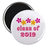 Floral Class Of 2019 Magnet