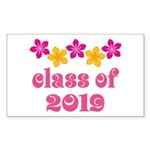 Floral Class Of 2019 Rectangle Sticker 50 pk)
