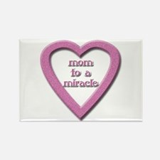 Mom to a Miracle Rectangle Magnet