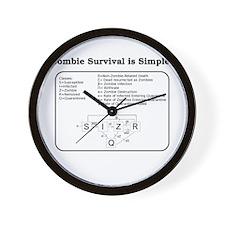 """Zombie Mathematical Model"" Wall Clock"
