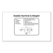 """Zombie Mathematical Model"" Rectangle Decal"