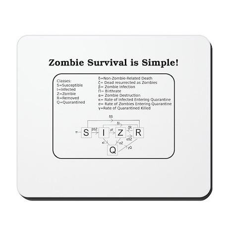"""Zombie Mathematical Model"" Mousepad"