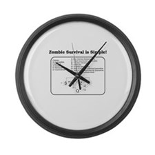 """Zombie Mathematical Model"" Large Wall Clock"