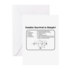 """""""Zombie Mathematical Model"""" Greeting Cards (Pk of"""