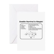"""""""Zombie Mathematical Model"""" Greeting Card"""
