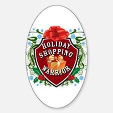 Holiday Shopping Oval Decal