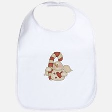 Candy Cane Snow Angel Bib