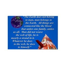 Web of Life Quote Rectangle Magnet