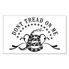 Dont Tread Fancy Rectangle Decal