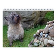 Cairn Terrier Football Scotland Wall Calendar