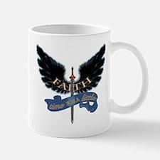 Faith on Angel Wings Mug