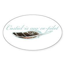 Angel Co-Pilot Oval Sticker (10 pk)