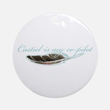 Angel Co-Pilot Ornament (Round)