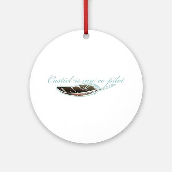 Angel Co-Pilot Ornament (Round)